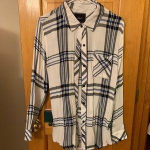 White and Black Rails Flannel